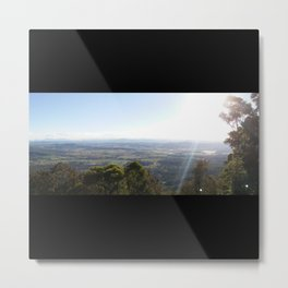 Mountain lookout landscape photo on a sunny day Metal Print