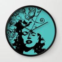 monroe Wall Clocks featuring MONROE by Bianca Lopomo