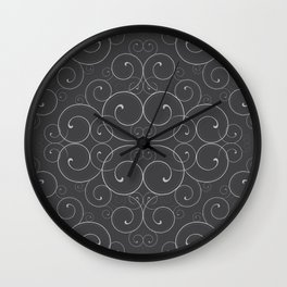 Black and White Antique Swirl Wall Clock