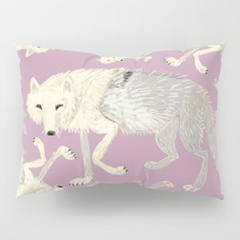 Arctic Wolf  lilac totem Pillow Sham