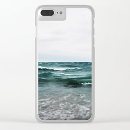 Turquoise Sea #2 Clear iPhone Case