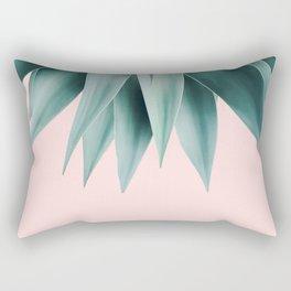 Agave fringe - blush Rectangular Pillow