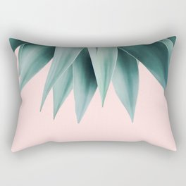 Agave fringe - blush Rectangular Pillow