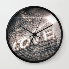 LET LOVE SHINE Wall Clock