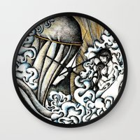 valar morghulis Wall Clocks featuring Second meeting by Anca Chelaru