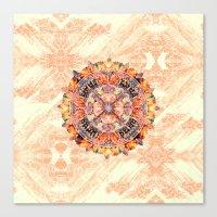 chakra Canvas Prints featuring Chakra Mandala by Peta Herbert
