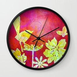Little Yellow Bird Wall Clock