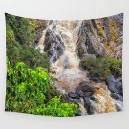 Waterfall in the rainforest Wall Tapestry