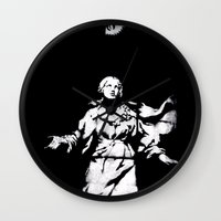 guns Wall Clocks featuring Holy Guns by MRCRMB