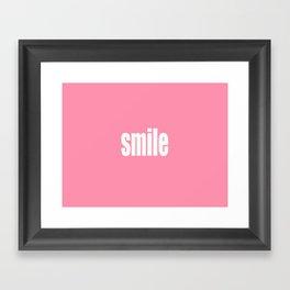 Smile with Baker-Miller Pink Color Framed Art Print