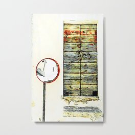 Borrello: door and mirror Metal Print