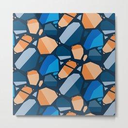 geometric, design, abstract, modern, decoration, tile, decorative, cover, geometrical, creative, squ Metal Print