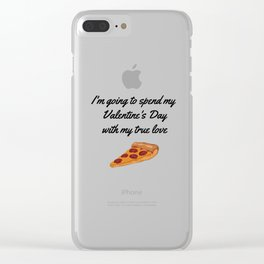 I'm going to spend my Valentine's Day with my true love Clear iPhone Case