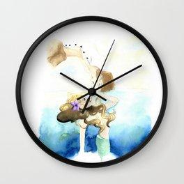 Mermaid Love Wall Clock