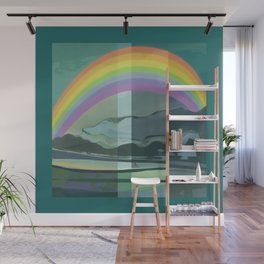 Hopeful Rainbow Wall Mural