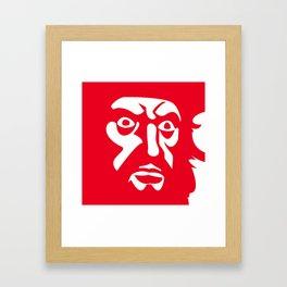 RED BLCKBRD Framed Art Print