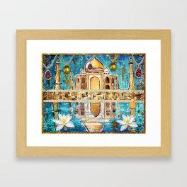 Reflections of the Taj Mahal Framed Art Print