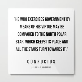 30  | Confucius Quotes | 200202 Metal Print