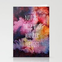 not all who wander Stationery Cards featuring Not All Who Wander by MichelleLynne