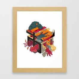 CITY OF MONSTERS Framed Art Print