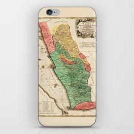 Map Of Yemen 1774 iPhone Skin