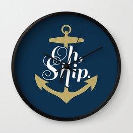 Oh Ship Wall Clock