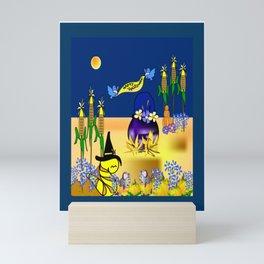 """Willy Worm's Happy Halloween"" Mini Art Print"
