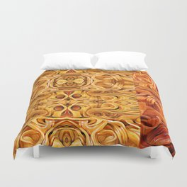 Abstract Chinese Noodle Duvet Cover