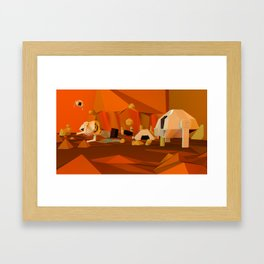 Mars Base Framed Art Print