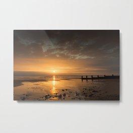 Sunrise on Cromer Beach Metal Print