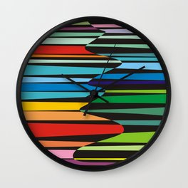 Color fantazy no.5 Wall Clock