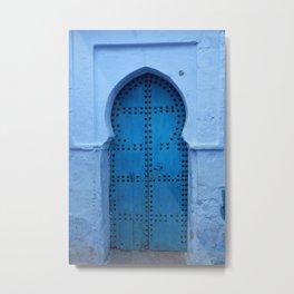 Exotic Blue Door in Morocco Metal Print