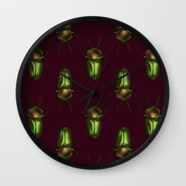 Rainbow Stag Beetles Wall Clock
