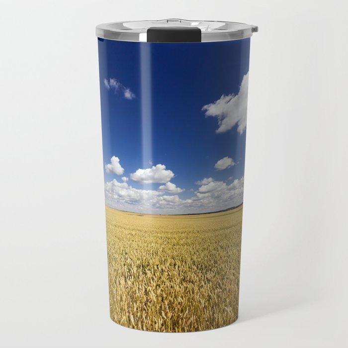 sunlit landscape Travel Mug