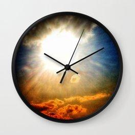 Illuminating Sun Wall Clock