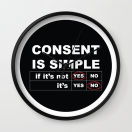 Consent Is Simple Wall Clock