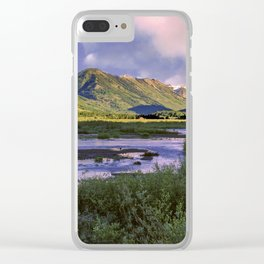 Crested Butte Sunrise Clear iPhone Case