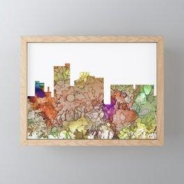 Lubbock, Texas Skyline - Faded Glory Framed Mini Art Print