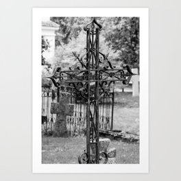 Pirita Cross (B&W) Art Print
