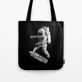 Kickflip in space Tote Bag