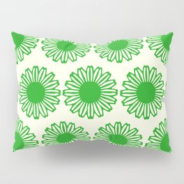 vintage flowers green Pillow Sham