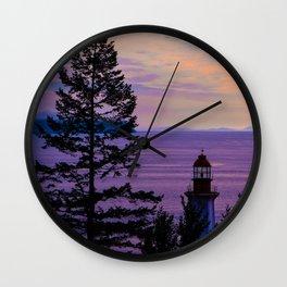 VanCity Sights In Purple Wall Clock