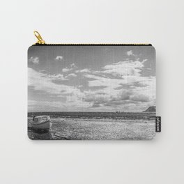 Panoramic Boat Black and White Carry-All Pouch