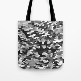 Foliage Abstract Pop Art In Monotone Black and White Tote Bag