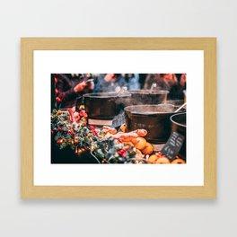 Christmas Market Relaxation Framed Art Print