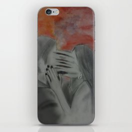 She couldn't let go  iPhone Skin
