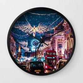 London Christmas Lights (Color) Wall Clock