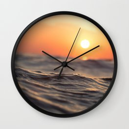 water sunset ocean Wall Clock