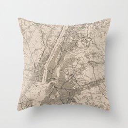 New York City Map Throw Pillow