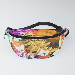 Beautiful detail / Watercolor flowers Fanny Pack
